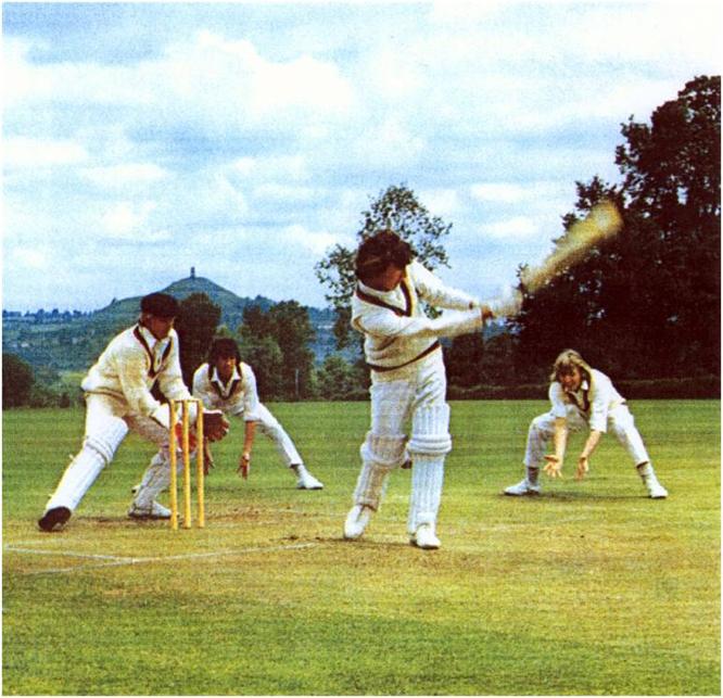 Peter Roebuck, batting at Millfield