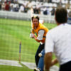 Kevin Pietersen warming up at Lords