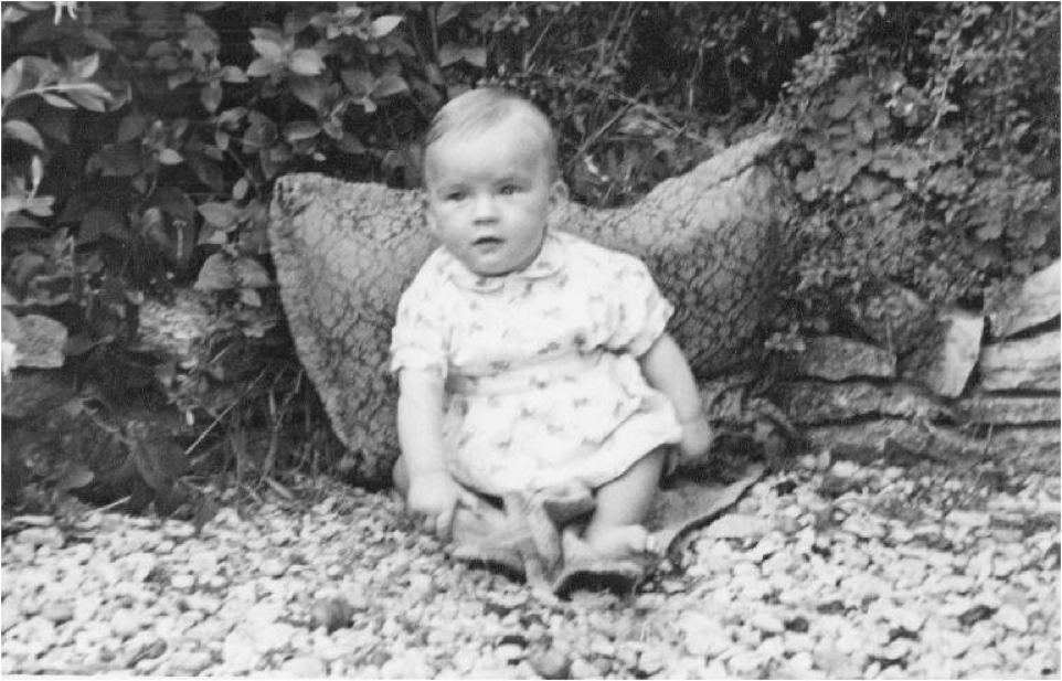 Peter Roebuck as a baby