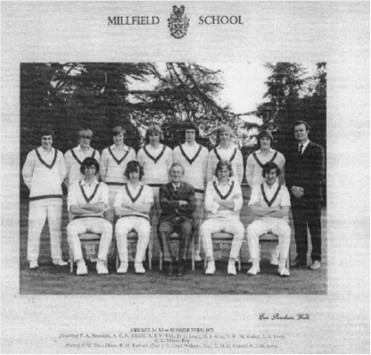 Peter as captain at Millfield