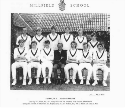 Peter at Millfield aged 13