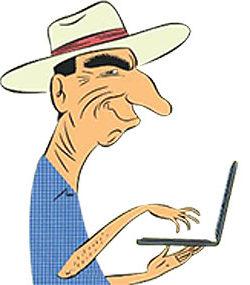 Peter Roebuck caricature
