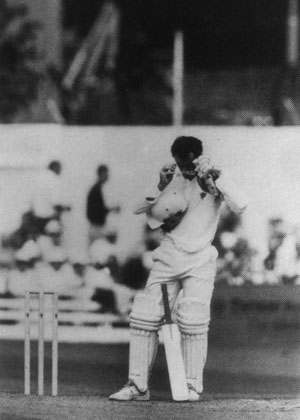 Roebuck preparing to bat