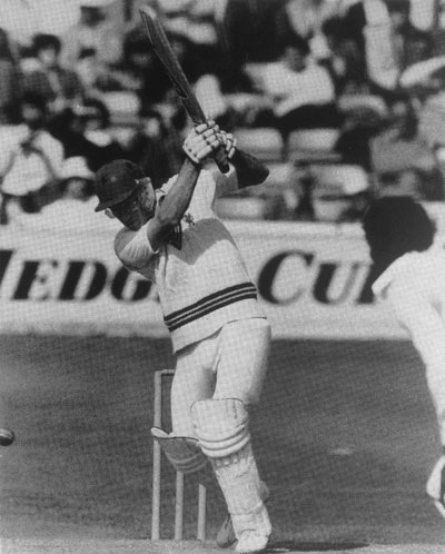 Peter Roebuck batting for Somerset
