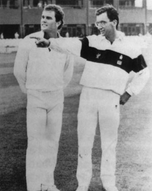 Martin Crowe and Peter Roebuck
