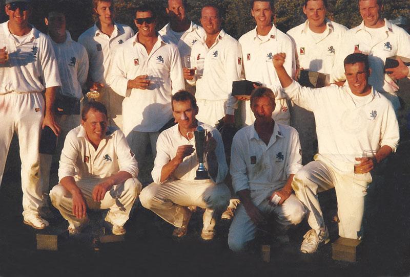 Winning cricket team