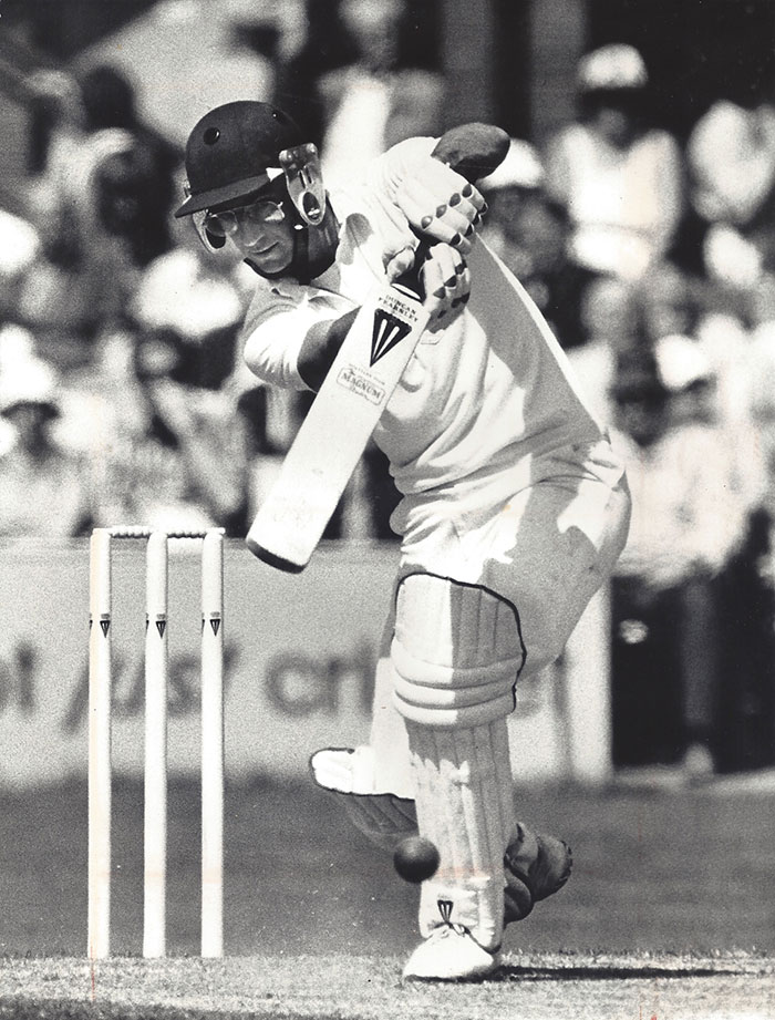 Peter Roebuck batting
