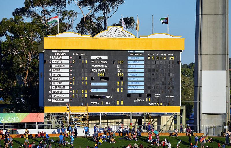 WACA manually operated scoreboard