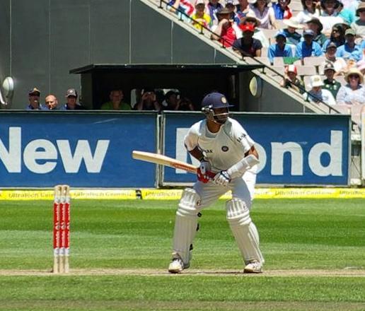 Rahul Dravid batting