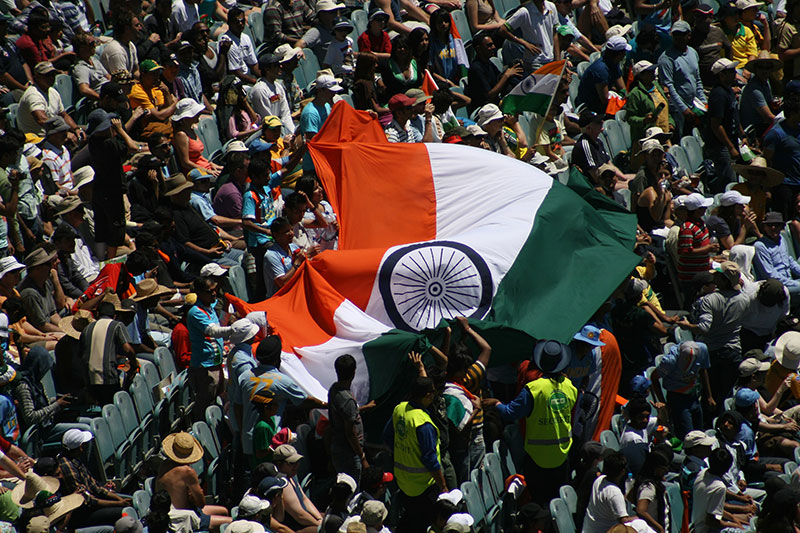 Indian cricket fans in Melbourne
