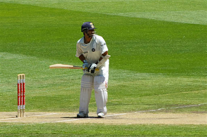 Sachin Tendulkar at the crease